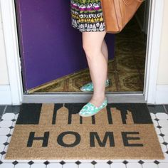 Create a DIY welcome mat that fits your home and personality! With a little paint and imagination, the possibilities are endless.