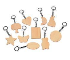 Llaveros de madera para decorar - bolsa 10 u