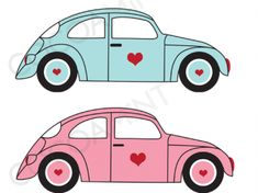 VW Love Bugs Clip Art  Fun VW car graphics!