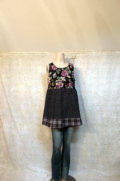 REVIVAL Women's Upcycled Boho Shirt Shabby Chic par REVIVAL sur Etsy, $42.00