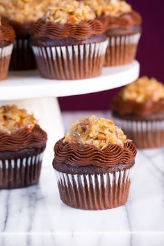 German Chocolate Cupcakes - Cooking Classy