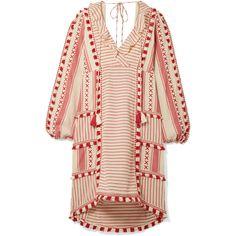 Dodo Bar Or - Tasseled Striped Cotton-gauze Dress - Red Floaty Dress, Gauze Dress, Dress Red, Ruffle Dress, Jennifer Fisher, Kenneth Jay Lane, Boho Chic, Gypsy, Blouse En Coton
