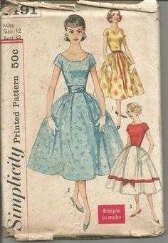 1950s Full Skirt Dance Rockabilly Neckline Variations Short