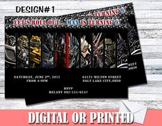 Amazon.com: Transformers Personalized Birthday Invitations More Designs Inside: Handmade