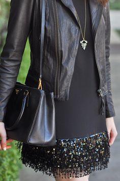Brooke du jour | Kate Spade sequin fringe minidress