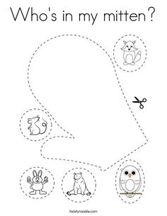 Who's in my mitten Coloring Page - Twisty Noodle Coloring Pages Nature, Coloring Pages Winter, School Sports, Winter Is Here, Sports Toys, Kids Prints, Mini Books, School Days, Noodle