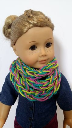 American Girl Doll Crafts and Fun!: Doll Infinity Scarf Photos and a Mini Giveaway