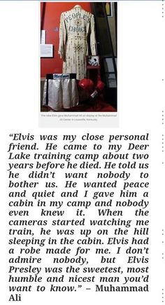 The Friendship of Elvis and Ali....
