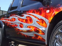 images of airbrushed painted cars | People always ask me how to draw flames and there really is only way ...