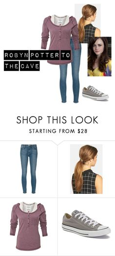 """""""Robyn Potter to the Cave"""" by laws3452 ❤ liked on Polyvore featuring beauty, Frame, Ficcare and Converse"""