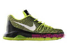 new arrival ebaf1 32c9b Officiel Nike KD 8/VIII Chaussures de Basketball Pas Cher Pour Homme Noir/Vert  749375-717