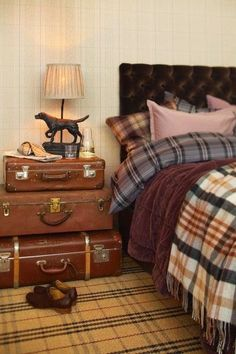 stacked vinatge leather suitcases