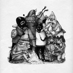Saddo's Joyously Sinister Drawings | Hi-Fructose Magazine