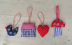 Seasonal ornaments – 4 little ornaments with a Dutch touch – a unique product by dutchsisters on DaWanda