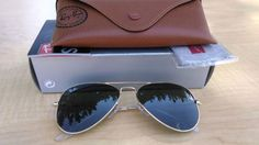 Ray-Ban Aviator Sunglasses RB3025 W3234 55 Gold Frame & Green G15 Lens Authentic