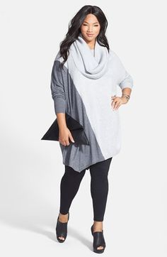 Sejour Tunic Sweater & Ponte Knit Leggings (Plus Size) purchased, comfy & cute!