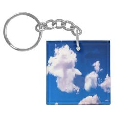 Clouds Key Chain Acrylic Key Chain