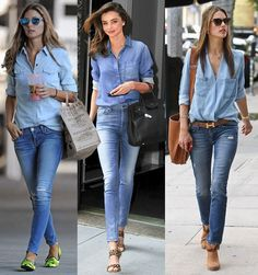 camisas jeans femininas - Pesquisa Google