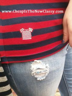 Striped Shirt Review! @stripedshirtz  Can get red and navy at stripedshirt.com $24.50