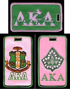 alpha kappa alpha paraphernalia | Greek Gifts Alpha Kappa Alpha Gift Package AKA - Greek Luggage Tags ...