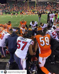 "NFL on ESPN on Instagram: ""Postgame prayer. #Texans #Bengals #MNF"""