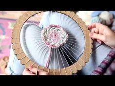 Round Weaving: soumak; Weaving Techniques with The Unusual Pear - YouTube