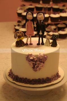 personalized engagement cake, nişan pastası, butik pasta, kişiye özel pasta