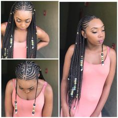 Feed i tribal braids IG:hairbykey___