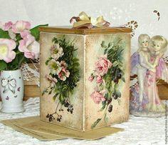 "Baskets, boxes handmade.  Fair Masters - handmade.  Buy a box of sweets ""Flower Garden"".  Handmade.  Beige, gift"