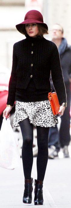 Olivia Palermo  Shoes – Aquazzura    Skirt – Zara  --i love the shoes--