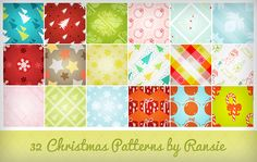 32 Christmas Patterns - 30 Refreshing Photoshop Christmas Pattern for 2013