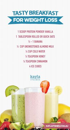 breakfast protein smoothie weight loss