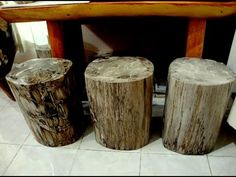 Fossil Wood Stool - YouTube