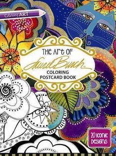 Coloring is a great way to relax and spark your inner creativity. From esteemed 21st-century artist Laurel Burch comes collection of perforated postcards featuring her most renowned artwork to color a