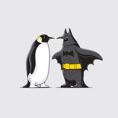 Glenn Jones is a creative graphic designer and illustrator from Auckland. Today we're selected 35 beautiful illustration designs, these cute illustrations make us happy. Penguin Art, Penguin Love, Cute Penguins, Funny Penguin, Penguin Tattoo, King Penguin, Batman T Shirt, I Am Batman, Batman Art