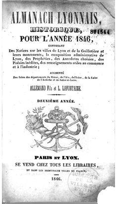 Almanach lyonnais historique, 1846