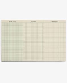 A desk pad to help organize and prioritize your mandatory tasks and extra credit to exceed your own expectations.