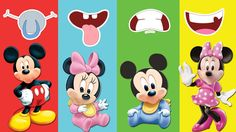 Mickey Mouse & Minnie Mouse Wrong Mouth Baby Lear Color Finger Family So...