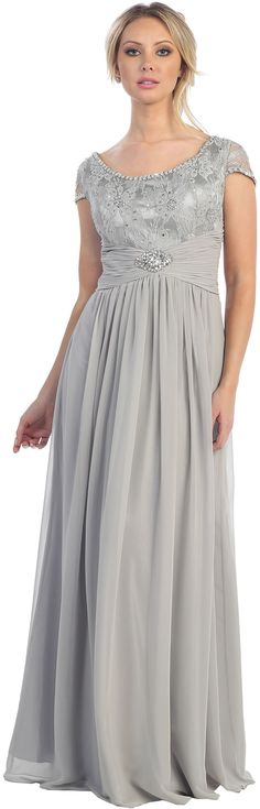 Silver Evening Dress with Sleeves http://www.iheartprom.com/by-style/long-dresses/silver-evening-dress-with-sleeves-for-mothe-of-bride-2012-s-5xl.html