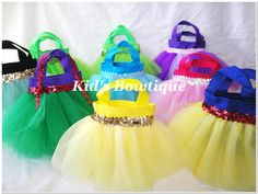 Adorable Disney Princesses Inspired  Party Favor Tutu Bags. via Etsy.