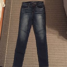 American eagle high rise jeggings Never worn, brand new jeggings! Dark wash without tags. American Eagle Outfitters Jeans Skinny