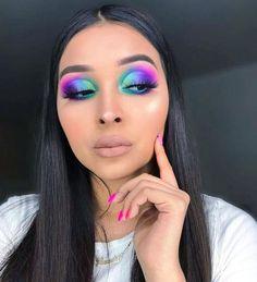 Makeup Eye Looks, Beautiful Eye Makeup, Eye Makeup Art, Glamour Makeup, Sexy Makeup, Beauty Makeup, Rave Makeup, Eye Makeup Designs, Creative Makeup Looks