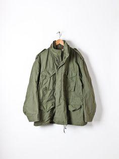Vintage Mens M65 Olive Green US Army Field Jacket by Flyinganyc Military  Field Jacket b7ffacc003d35