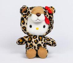 "Hello Kitty 8"" Hooded Plush: Leopard"