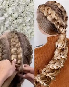 Easy Hairstyles For Long Hair, Spring Hairstyles, Braids For Long Hair, Cute Hairstyles, Wedding Hairstyles, Hairstyles Videos, Nice Braids, Everyday Hairstyles, Formal Hairstyles