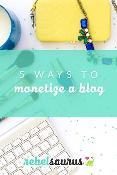 There are many different ways to monetize a blog out there, and today I'm going to go over what the main ones are so you can make a decision about how you'd like to go about monetizing your new blog or business. Some are passive income (meaning once you create it, it continues to make money without additional work), and some are active income that require ongoing time and effort.