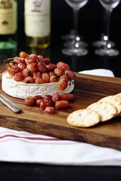 An easy and impressive holiday appetizer! Roasted Grape Baked Brie