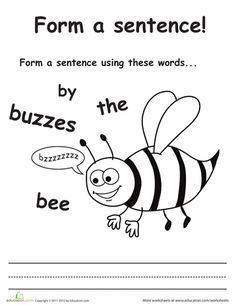 Worksheets: Make a Buzzing Bee Sentence