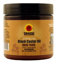 JAMAICAN BLACK CASTOR HAIR FOOD : Tropic Isle Living's Jamaican Black Castor Oil hair food combines herbs, essential oils and plant wax to make a nourishing hair food.