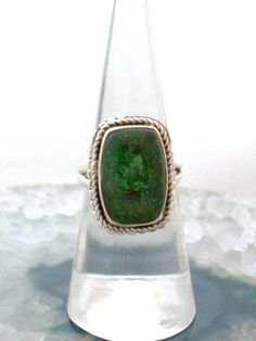 Sz 5 (J Rare Genuine Dark Green JADE Rectangular Gemstone, 925 Solid Sterling Silver Ring Jewellery! by AmeogemJewellery on Etsy Thing 1, Jade Ring, Jade Green, Birthstones, Sterling Silver Rings, Gemstone Rings, Gemstones, Jewellery, Dark
